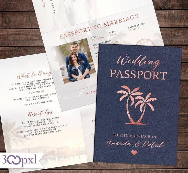 unique invitation:Passport Invite