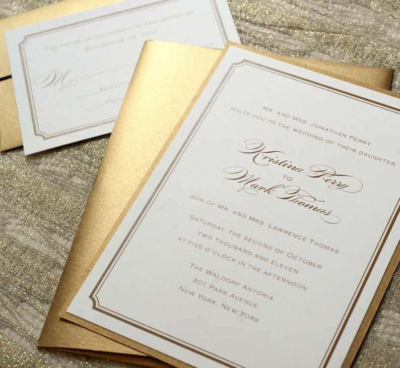 unique invitations: Printed Sample Invitation and RSVP