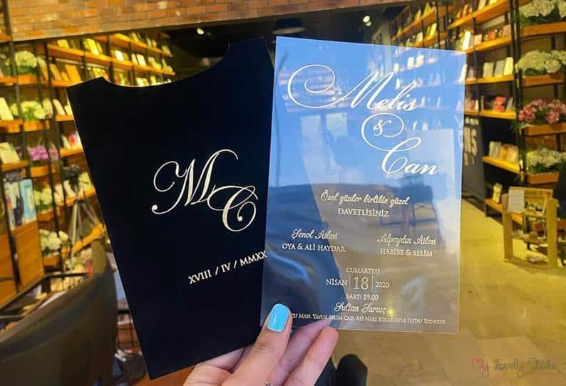 wedding party invitation:Velvet Pockets