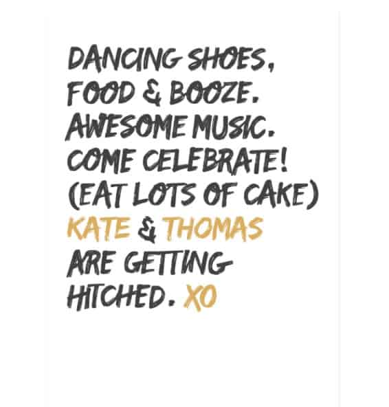 'XO' Wedding Invitation - funny wedding invitations