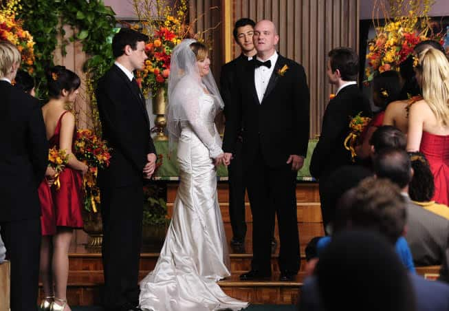 funny wedding vows from movies:Glee Carole and Burt