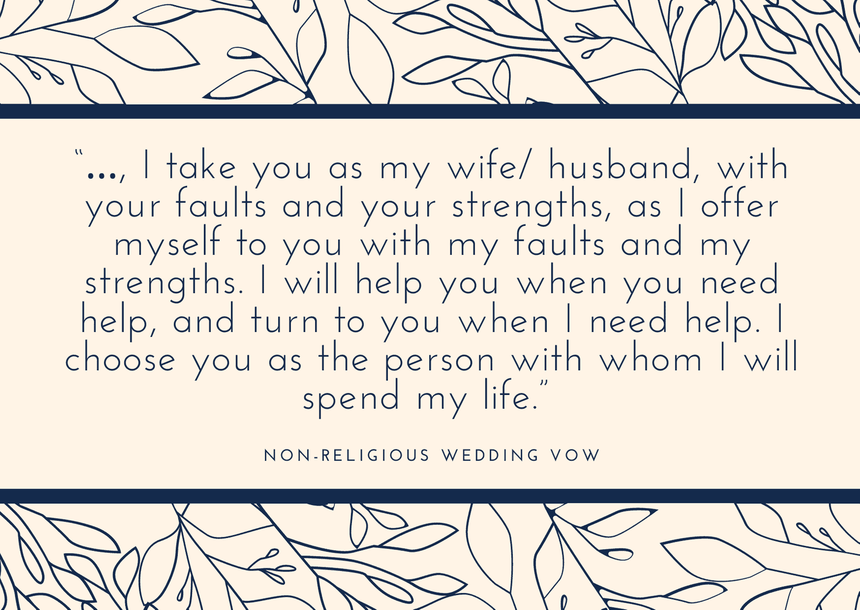 non-religious wedding vows