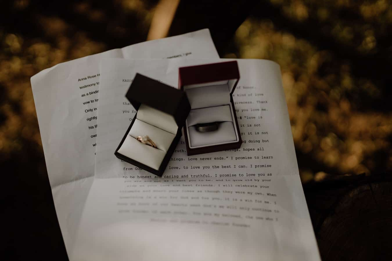 how to write wedding vows - rings