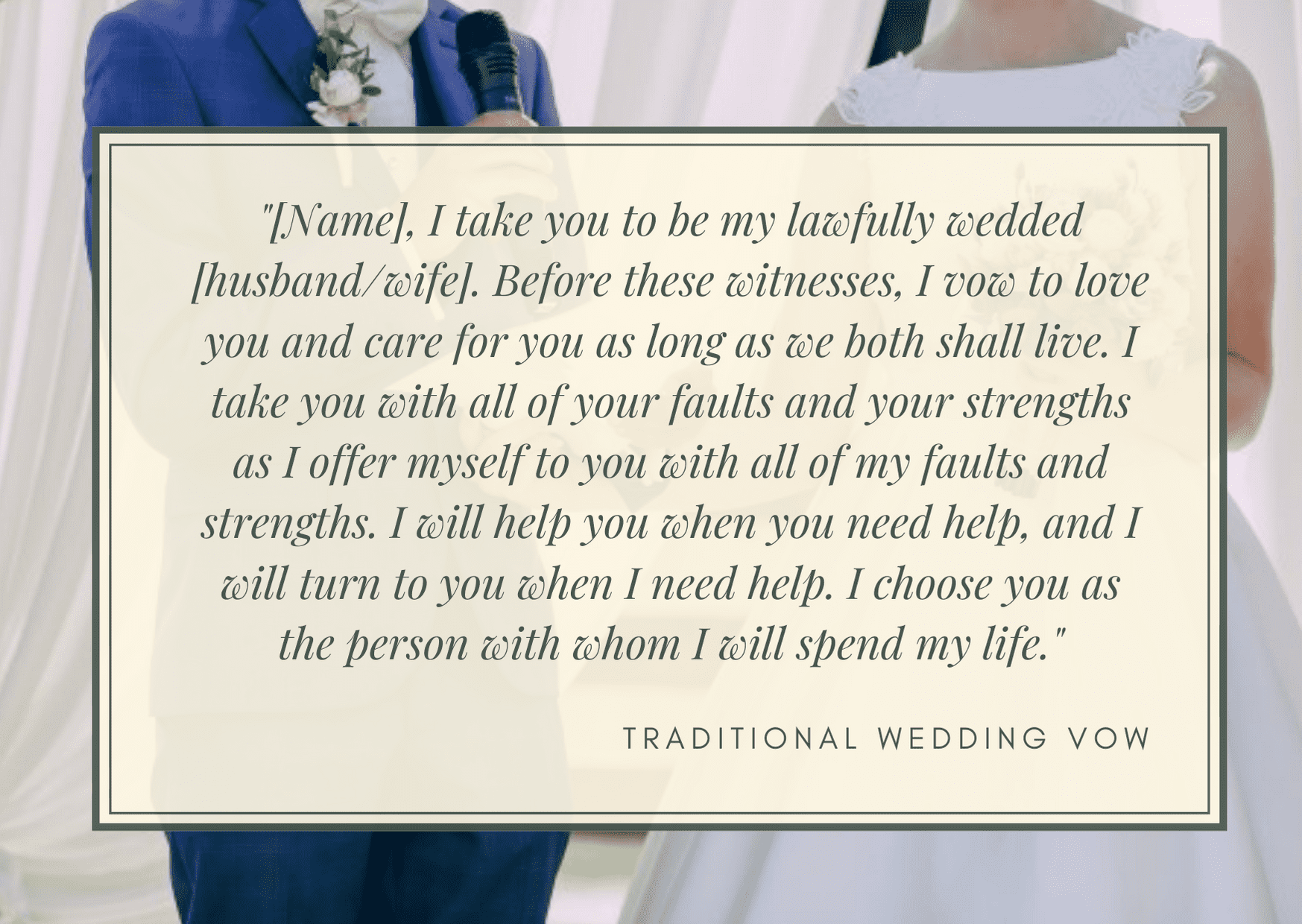 how to write wedding vows -  traditional wedding vows