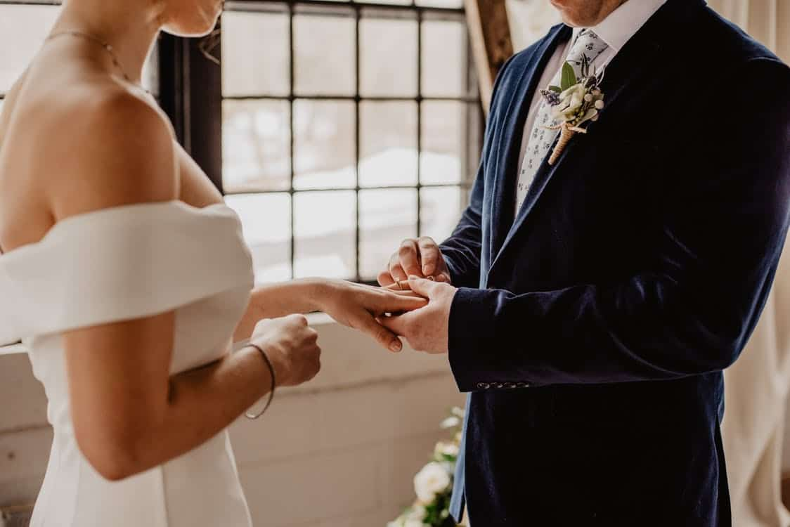 non religious wedding ceremony - exchange ring