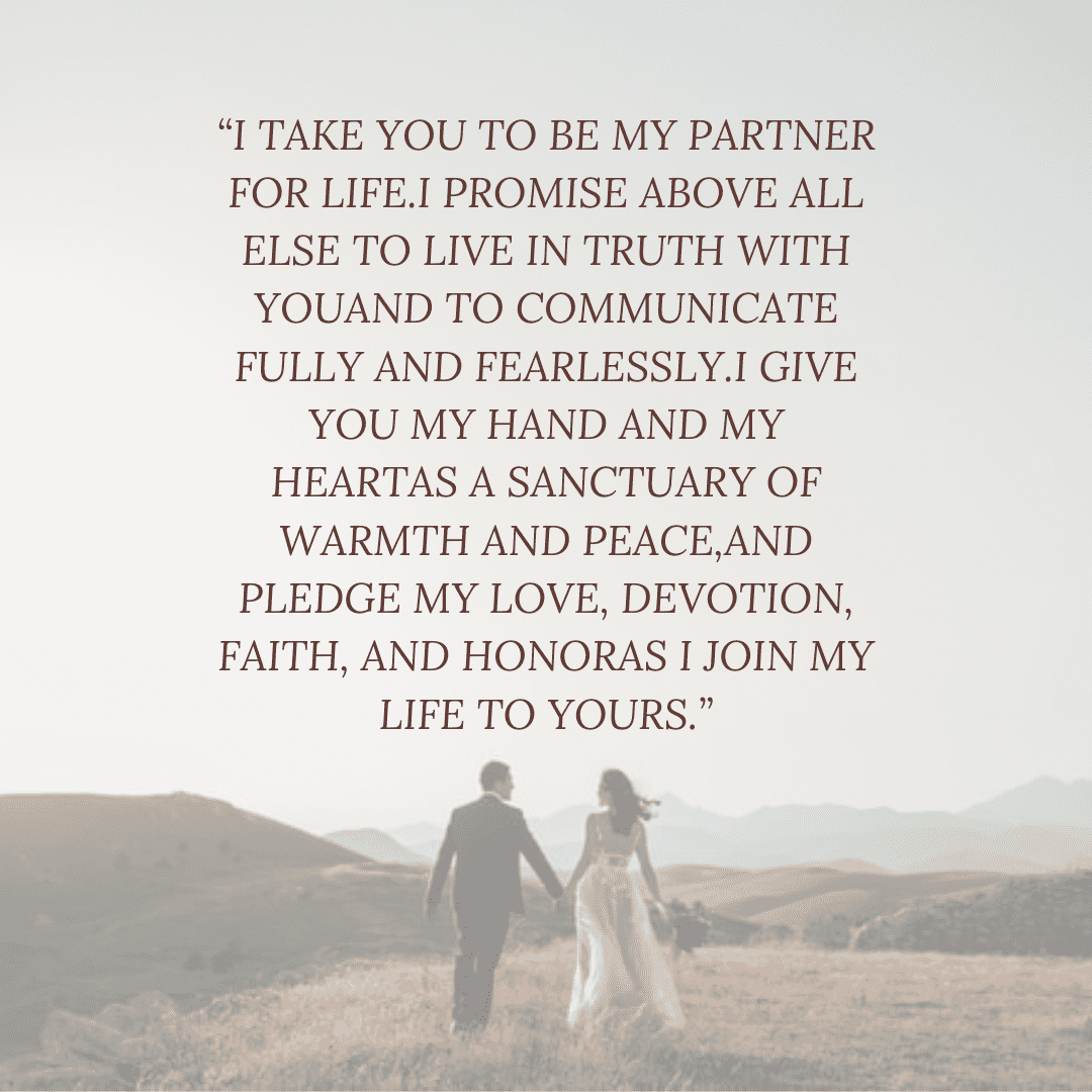 traditional non religious wedding vows