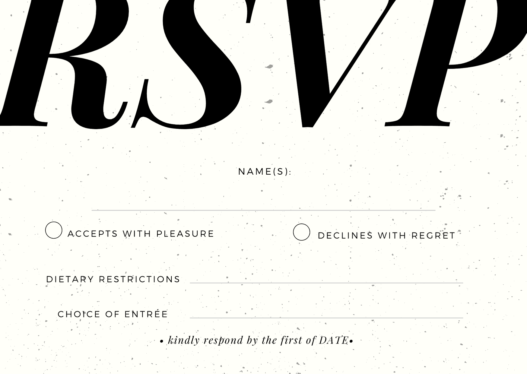 rsvp cards for wedding - formal style