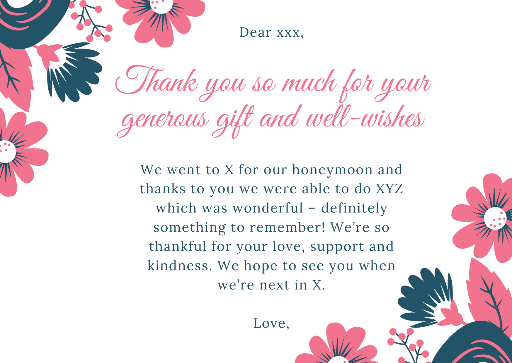wedding thank you card wording - To Who Gave a Monetary Gift or Gift Card