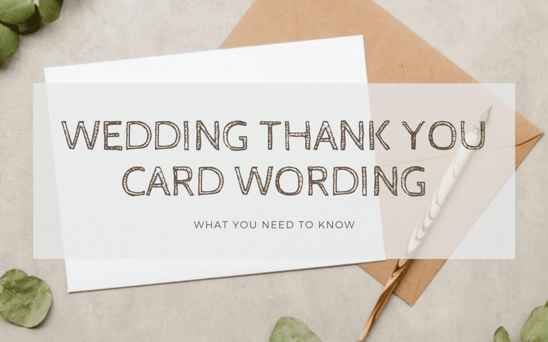 wedding thank you card wording - thumbnail