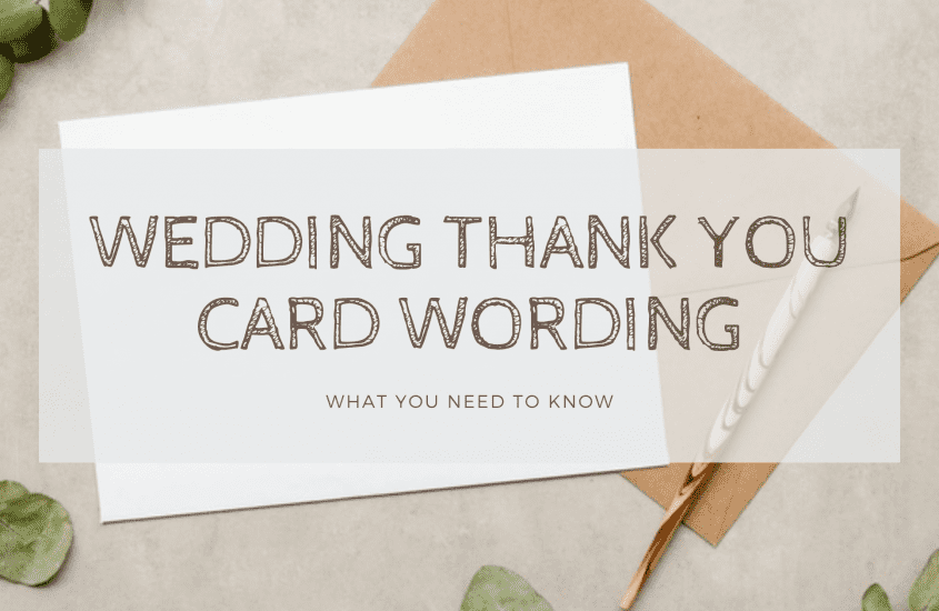 Wedding Thank You Card Wording Samples and Etiquettes – Do and Don't You Should Know