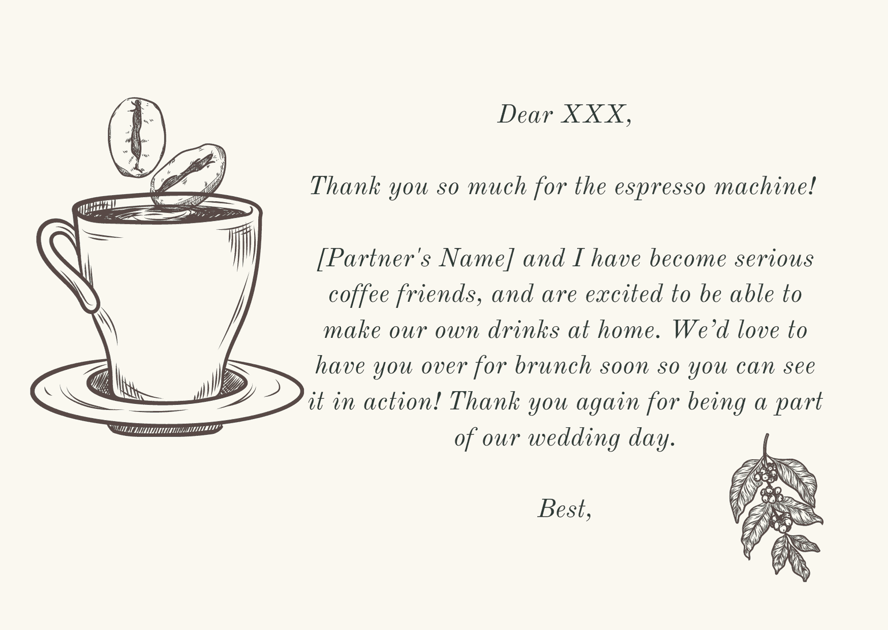 wedding thank you card wording - to who gave a gift