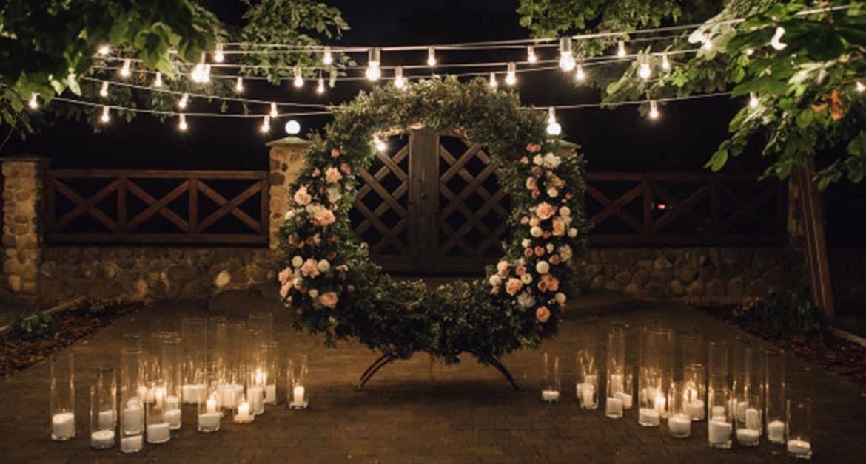 ideas for a wedding ceremony:lighting wedding