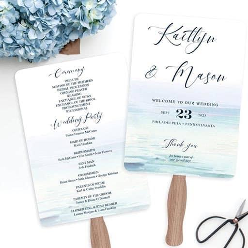 programme for wedding:Choose a Design Based on Your Destination