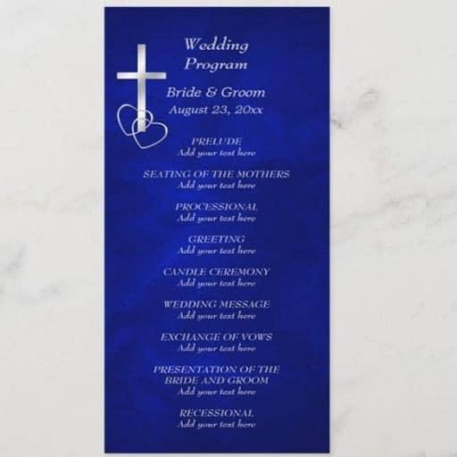ceremony program:Christian Ceremony Program