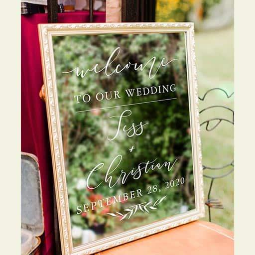 Wedding Program With a Mirror