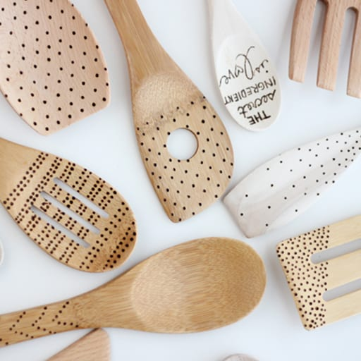 DIY Etched Wooden Spoons​
