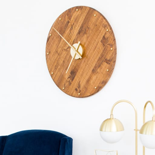 DIY Mid Century Wall Clock​