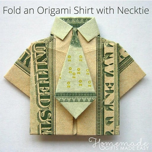 DIY Fold a Money Origami Shirt and Tie