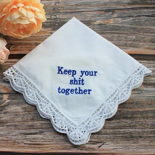 funny wedding gift ideas:Handkerchief