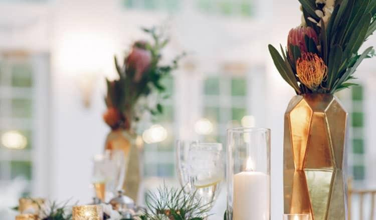 decor ideas for wedding reception:Herb Centerpieces