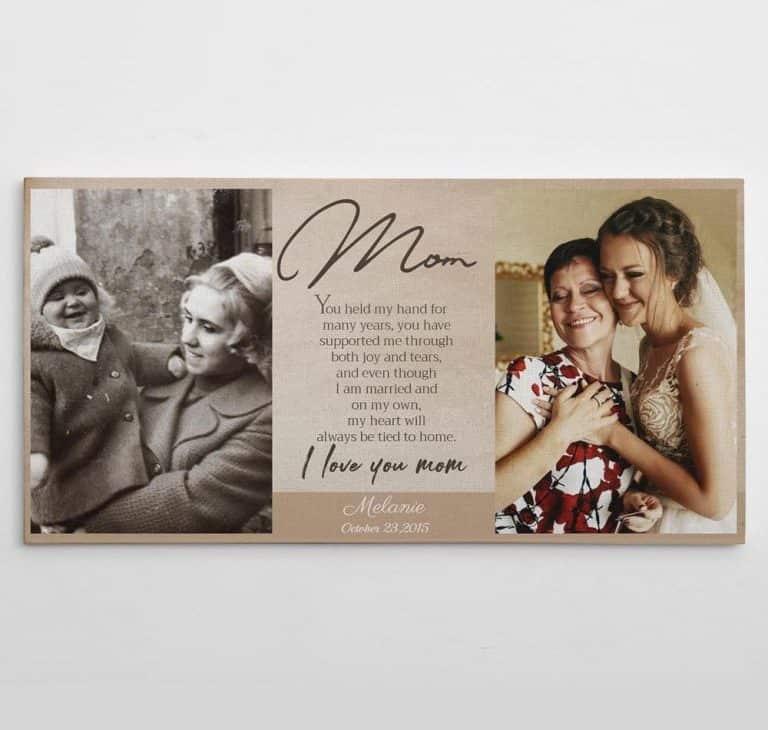 I Love You Mom Poem Custom Photo Canvas Print