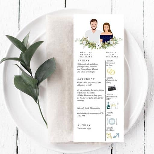 simple wedding program template: Illustrate Your Wedding Party