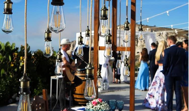 elegant wedding reception ideas:Magic Lighting
