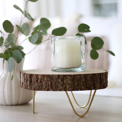 crafty wedding gifts: Footed Wood Slice Tray