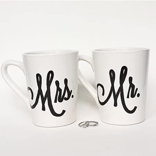 Mr. & Mrs. Sharpie Mugs