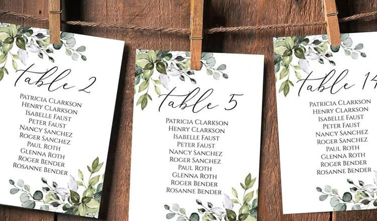 reception parties:Nature-Inspired Seating Chart