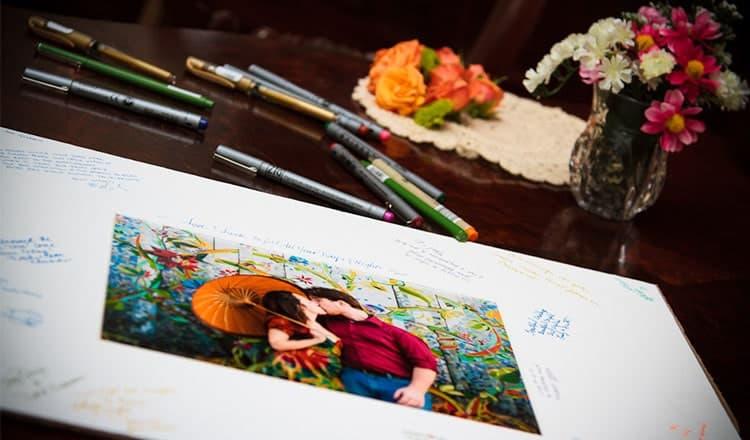reception wedding decoration: Photo Guest Book