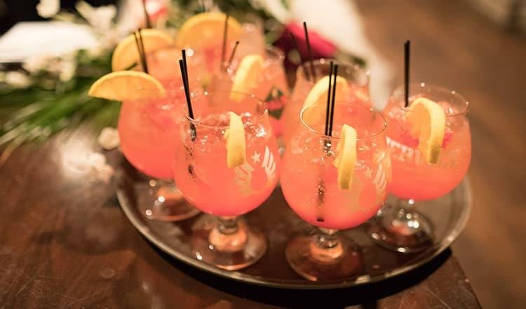 fun wedding reception: pre ceremony cocktail