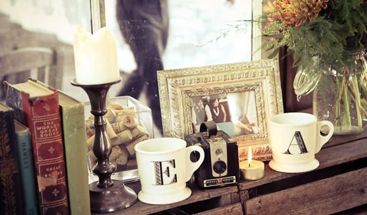 reception wedding decoration:Vintage Wood Boxes