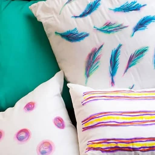 homemade wedding gift ideas:Watercolor pillows