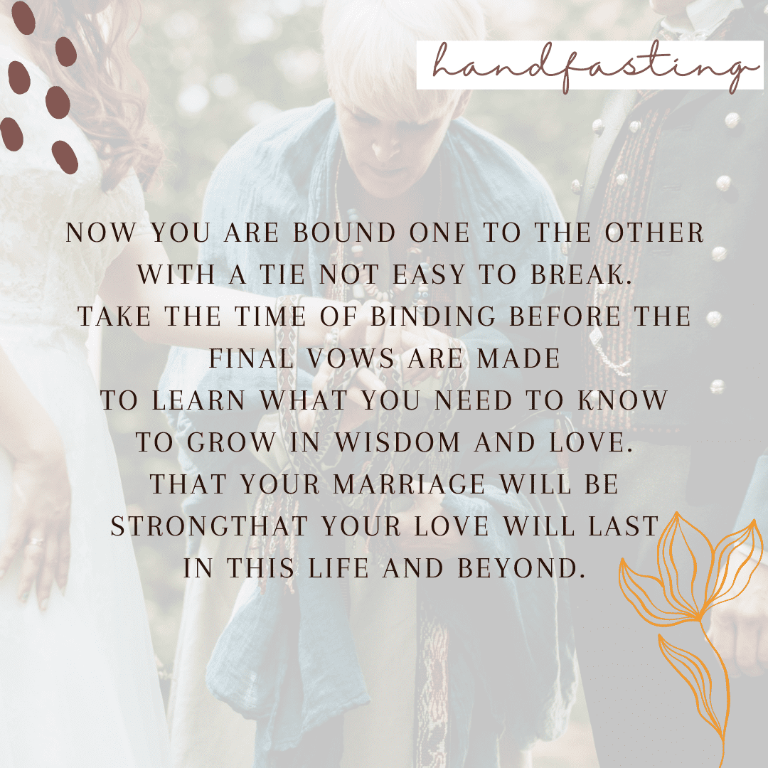 celtic wedding vows - handfasting