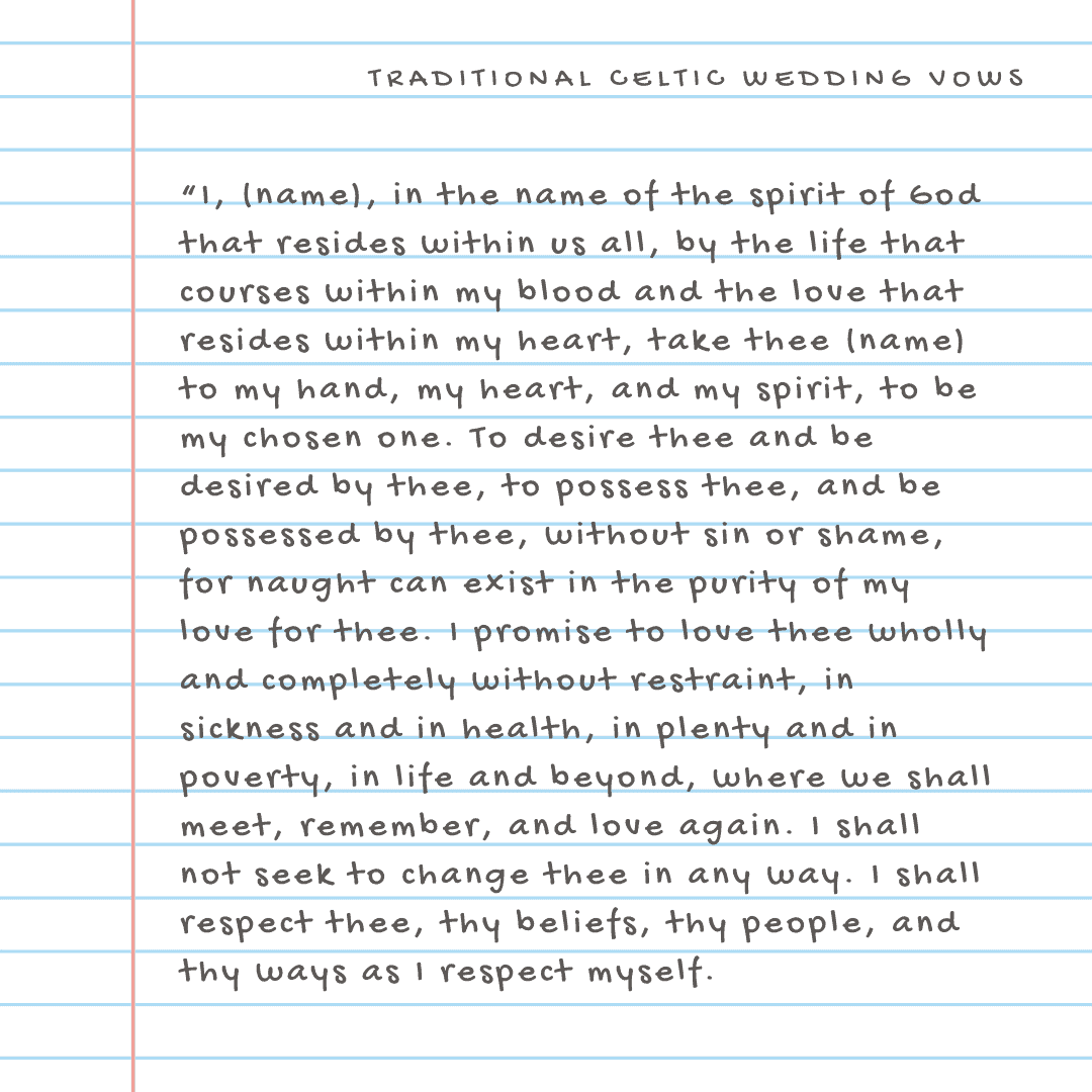 celtic wedding vows - 1