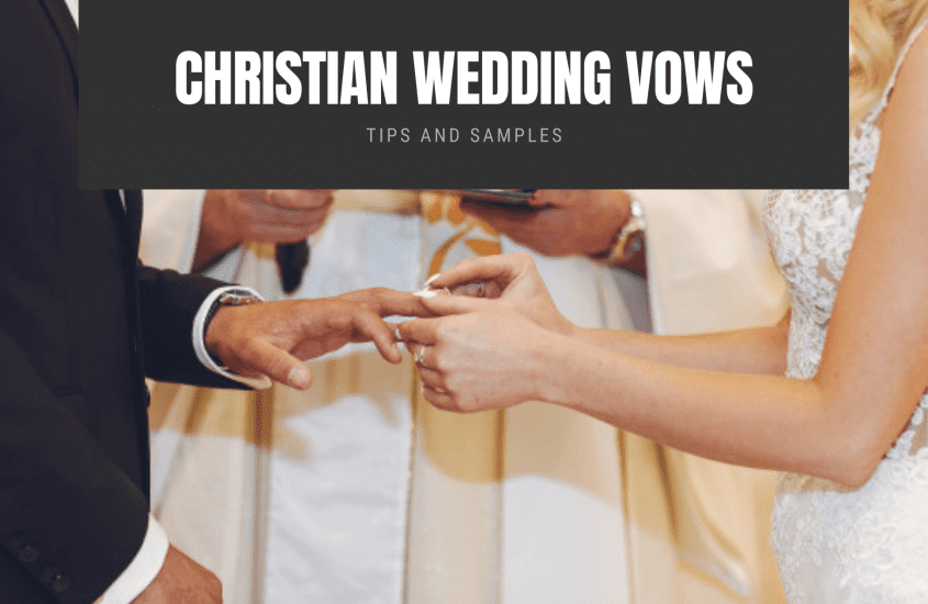 Traditional and Contemporary Christian Wedding Vows Every Couple Can Use