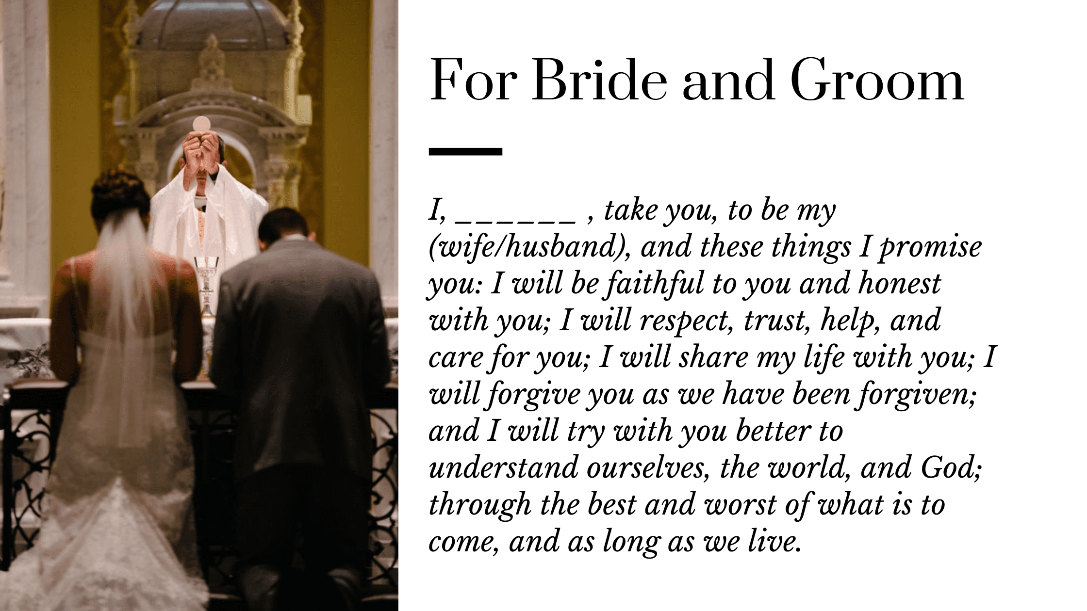 Christian wedding vows for both