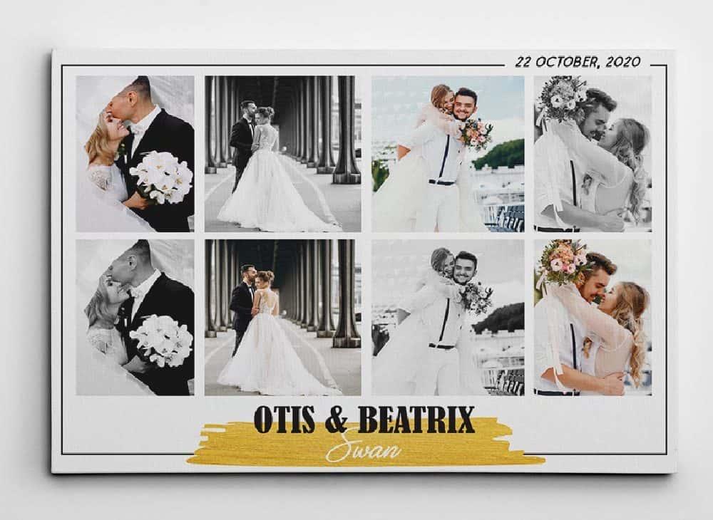 Wedding Photo Collage Canvas Print