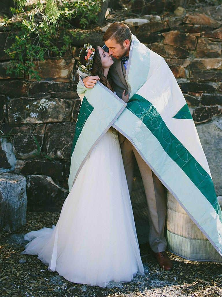 unique unity ceremony ideas - blanket