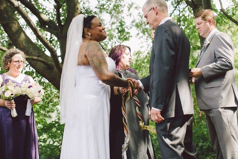 unity ceremony ideas - handfasting