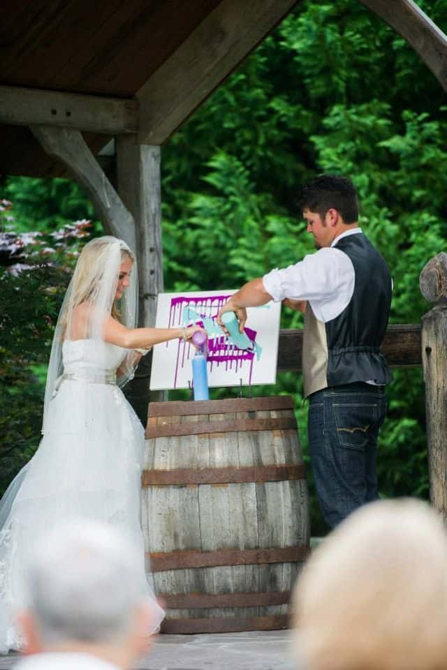 Blending Paint - wedding unity ideas