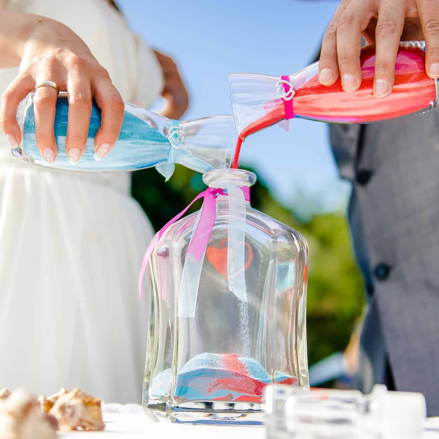 unity ceremony ideas - sand ceremony