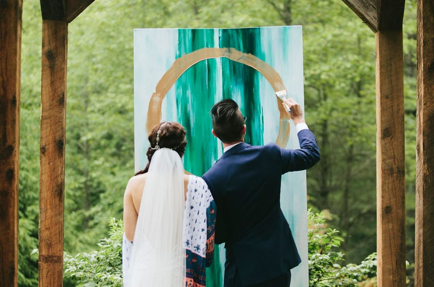 canvas painting - wedding unity ideas