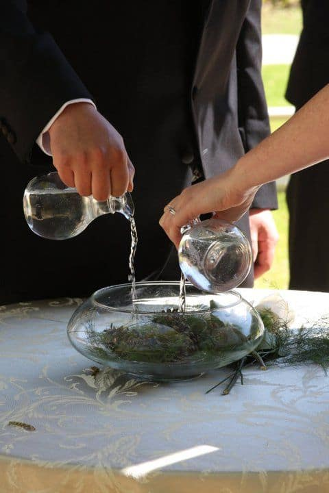 wedding ceremony ideas - water ceremony unity