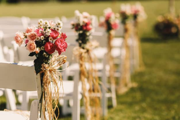 wedding reception decorations - flowers