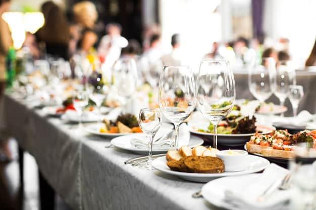 Decorate with Food - wedding reception decor