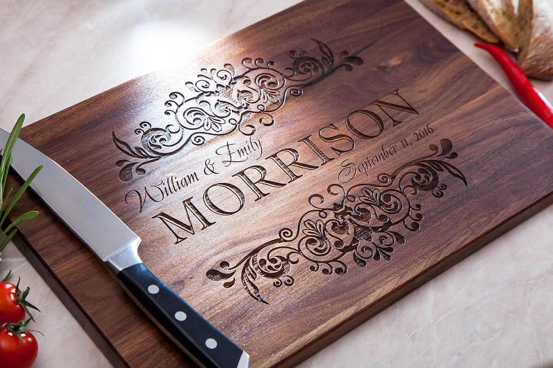 last minute wedding ideas:Cutting Board