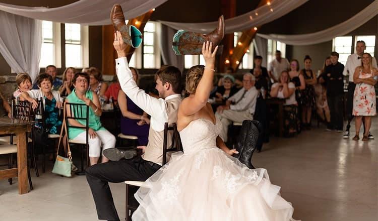 fun wedding games:wedding shoe game
