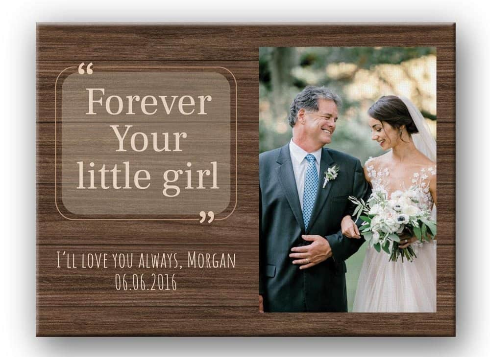Father and Daughter Personalised Photo frame